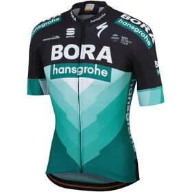 Sportful Team Bora-HG Bodyfit Fietsshirt korte mouwen Heren groen/zwart